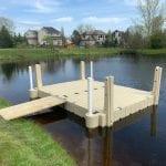 Pond dock 12
