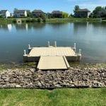 Pond dock 15 rotated